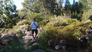 Mark's classic tourist pose in the Australian National Botanic Gardens