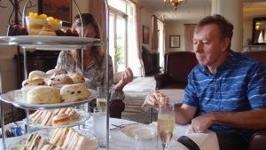 Mum and Barry enjoying High Tea