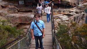 Mark on a bridge