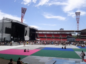 Stage 2 at the beginning of the festival
