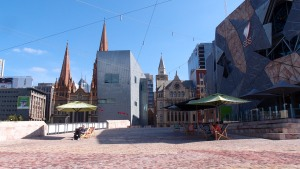 Arrived at Federation Square