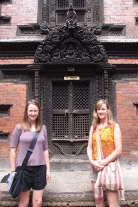 Outside the temple of the living goddess