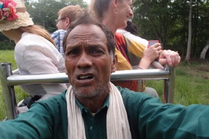 Our mahout took my camera off me and proceeded to take selfies, all whilst driving the elephant!