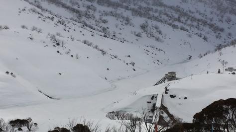 View of the dam from Guthega Inn