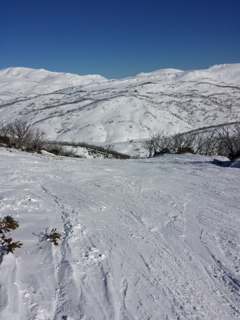 View from the top of Parachute at Guthega