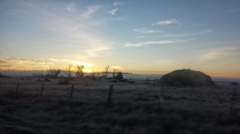Light breaking at Cooma