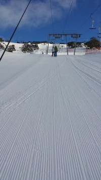 Ultimate reason to stay on snow: easy first tracks