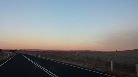 Very heavy, but beautiful fog, on the Monaro Highway