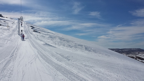 Excitement building on the Olympic t-bar