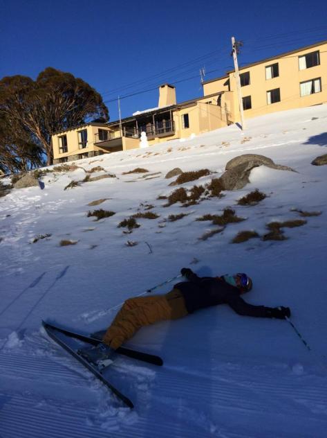 beaten by snow