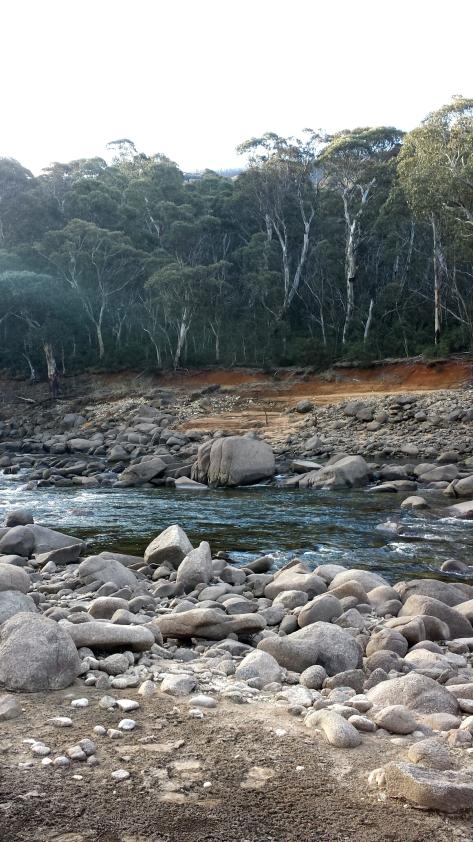 Beautiful river at Island Bend near Guthega