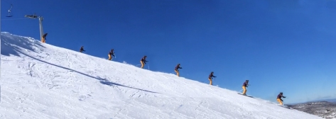Skiing down Olympic